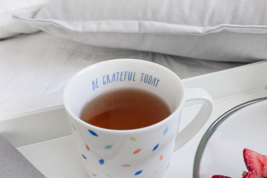 How to be a morning person. Tea and Gratitude.