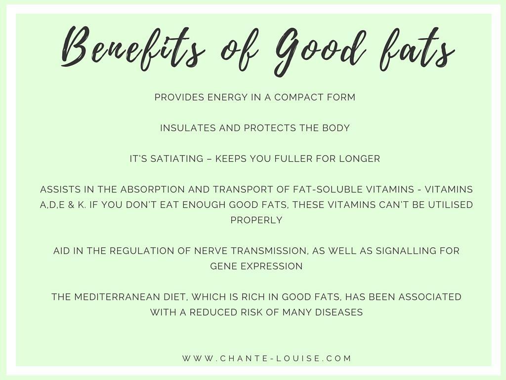 benefits of good fats